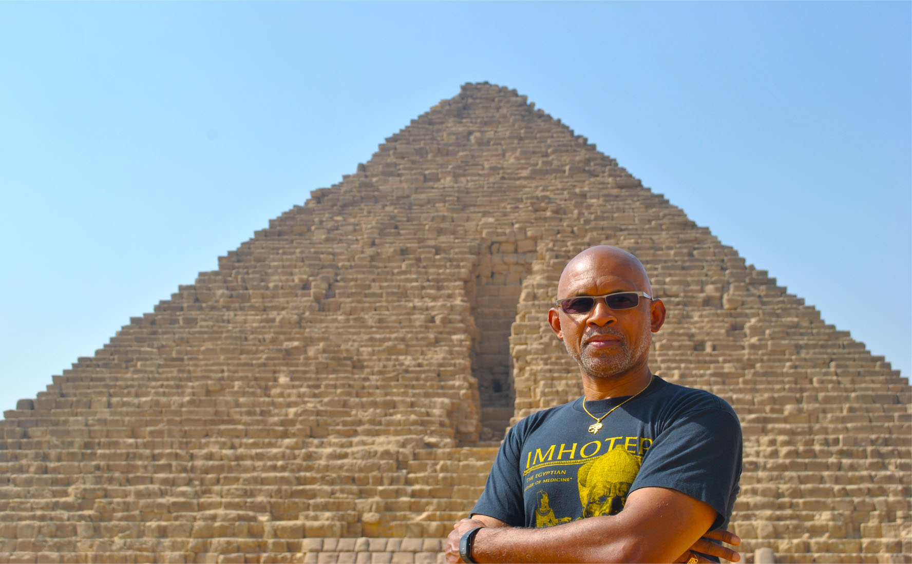 Tony Browder in Egypt